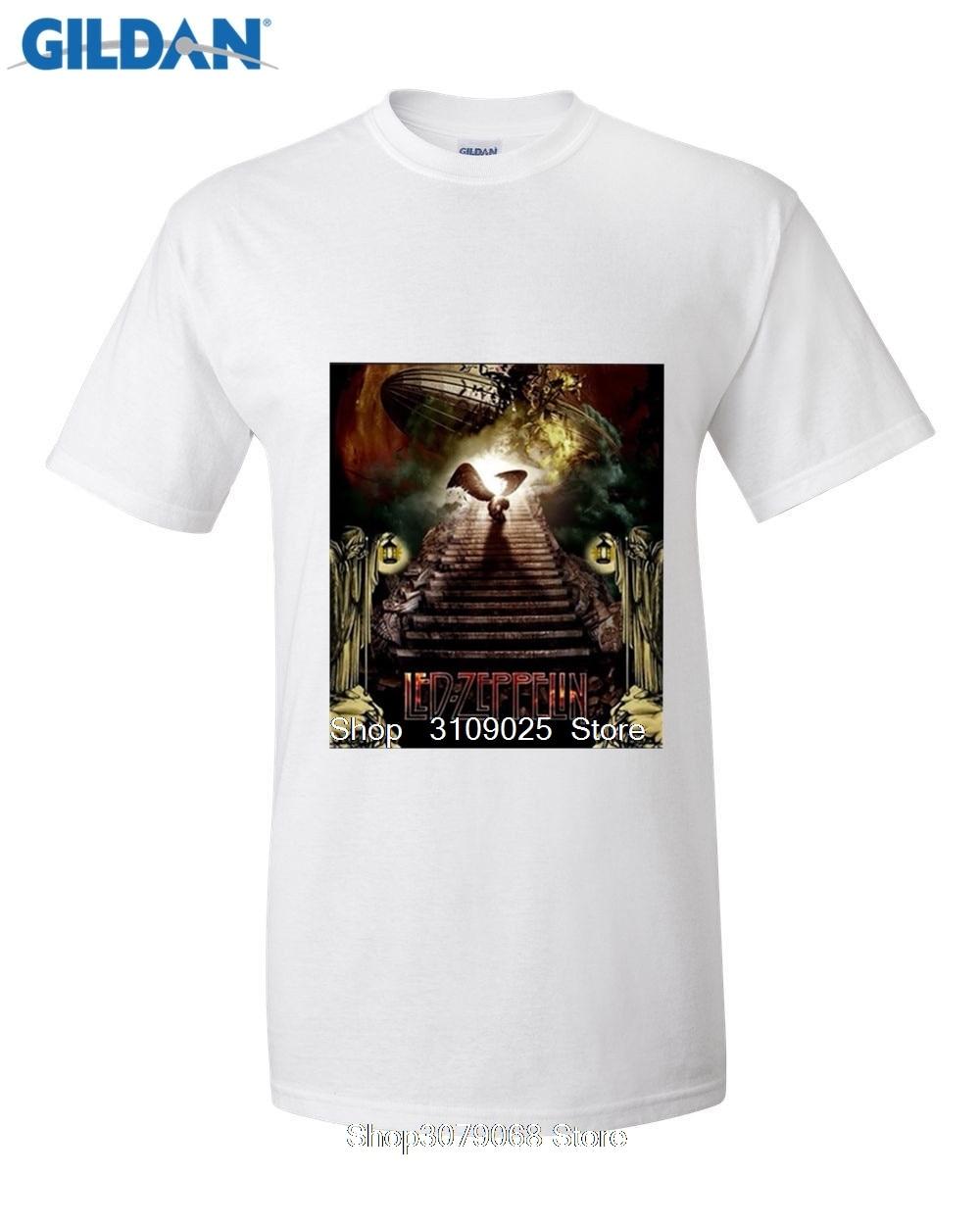 Design t shirt china - Gildan Design Your Own Led Zeppelin T Shirt Men High Quality Cotton Tshirt Man Short Sleeve
