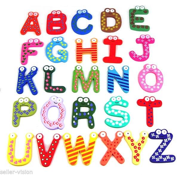 Холодильник магнитных букв алфавита 26 деревянные верхний Чехол-Z детские развивающие Игрушечные лошадки