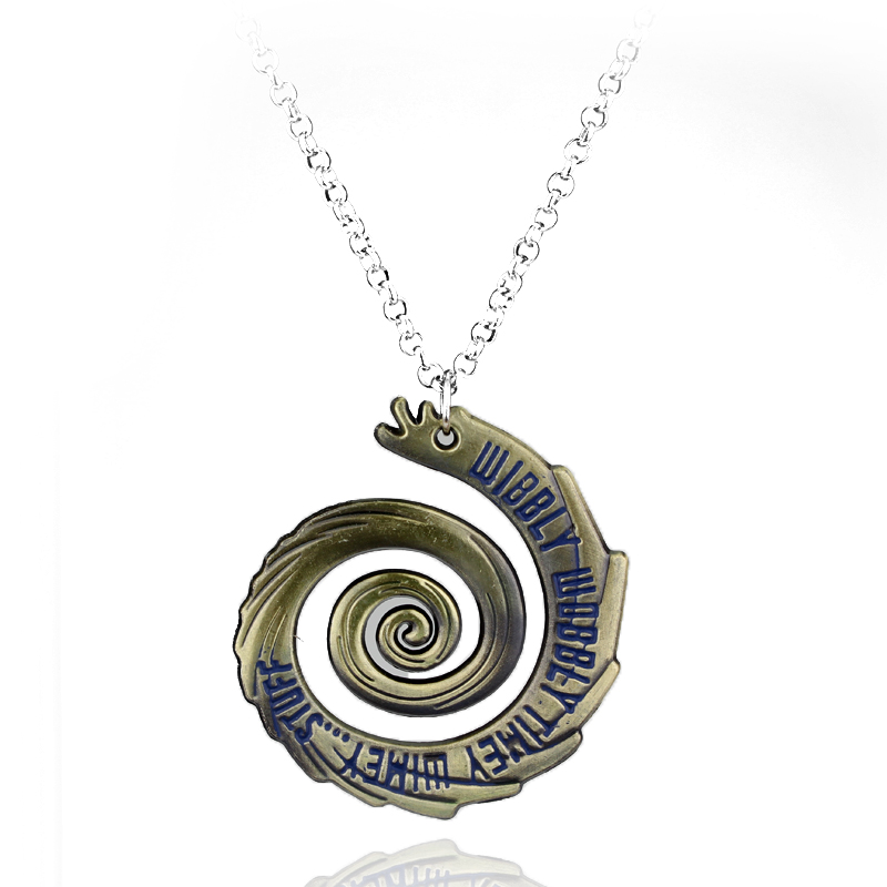 Doctor Who Pendants Wibbly Wobbly Timey Wimey Spiral Design Vintage Necklace For man Women Hollow Chain Necklace Drop shipping