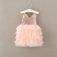 Hot selling LOVERTJES jurken meisjes kant v-hals kleding baby kids party tutu ball grown jarretel dragen 5BS511DS-66