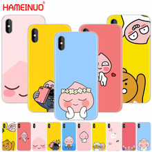 HAMEINUO Korean cartoon funny cocoa friend cell phone Cover case for iphone X 8 7 6 4 4s 5 5s SE 5c 6s plus(China)
