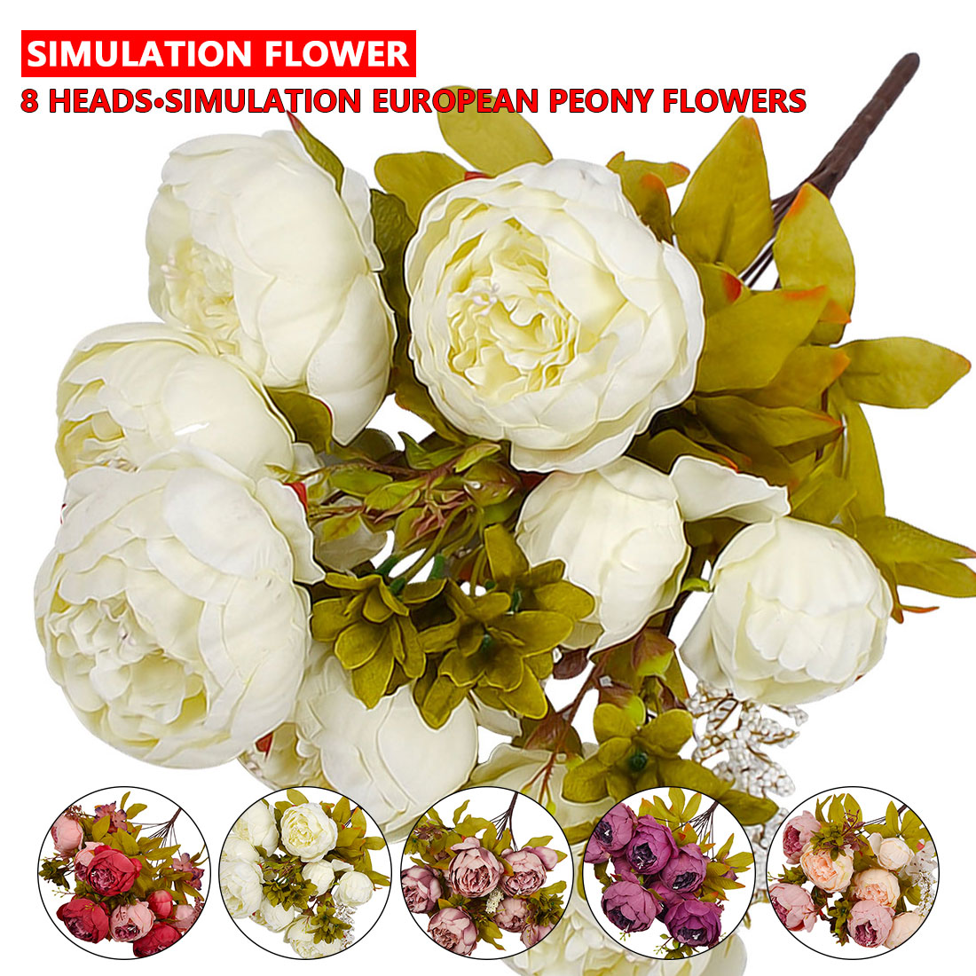 Peony flower silk flower european 1 bouquet artificial flowers fall peony flower silk flower european 1 bouquet artificial flowers fall vivid peony fake leaf wedding decoration home party flores in artificial dried flowers izmirmasajfo