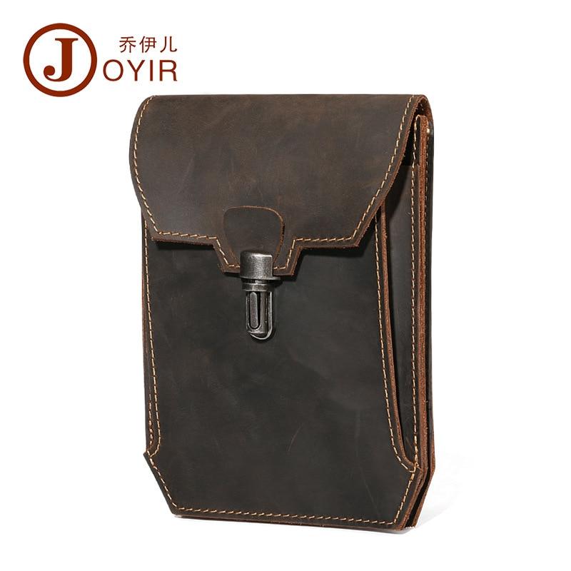 Joyir midja pack äkta läder man multi-purpose vintage casual bälte - Bälten väskor - Foto 5