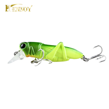 Hennoy 1 pcs Quality Hard Insect Bait 55mm Grasshopper Fishing Lure Bass Wobbler Laser Fishing Tackle -5 colors
