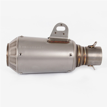 Stainless Steel 51mm Motorcycle Muffler Exhaust Pipe Mufflers Accessories