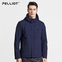 Pelliot и наружные куртки для мужчин и женщин три в одном новые непромокаемые дышащие костюм для горного туризма теплые двухсекционные куртки