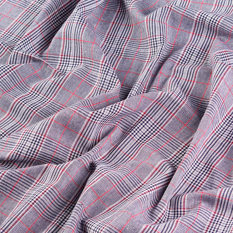 100*145Cm Houndstooth Tweed Garen Geverfd 100% Linnen Vlas Kledingstuk Materialen Lente Pak Jas Diy Kleding Stof d30