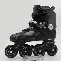 Профессиональные взрослых слайд роликовые коньки обувь укрепить рама роликовых коньков база прочный PU колеса тормоза раздвижные Drift для СЕ