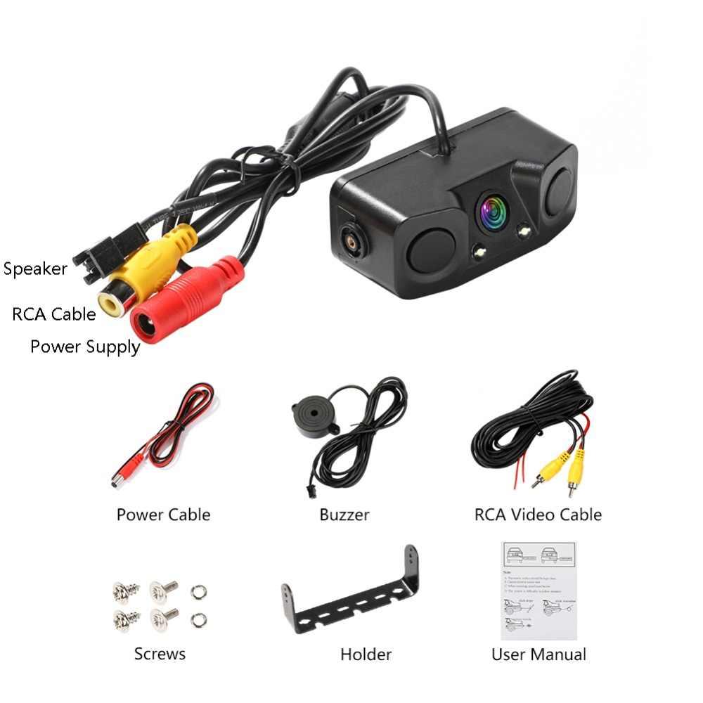 3 1 で車ナイトビジョン後姿カメラレーダー駐車センサー 170 度の視野角で IP67 2.4 グラム無線送信機受信機
