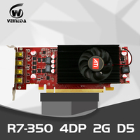 VEINEDA Multiscreen Display Card R7 350 2GB GDDR5 128Bit PCI Express 2.0 4DP for Low Profile PC Support 4 mode display