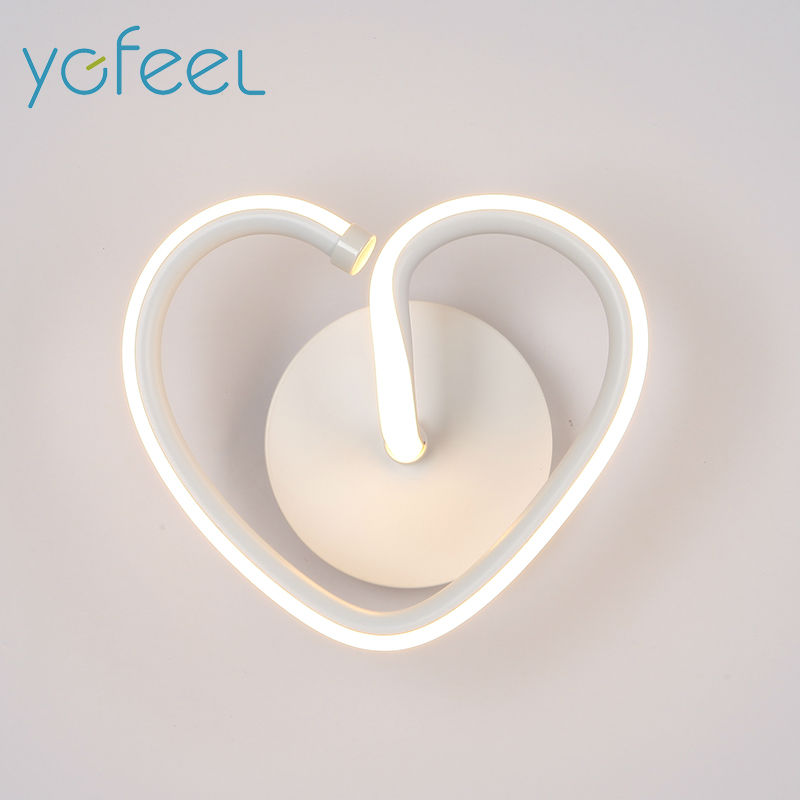 цена [YGFEEL] 13W LED Wall Light Creative Heart-shaped Bedroom Wall Lamp Indoor Living Room Foyer Decoration Corridor Stair Lighting в интернет-магазинах