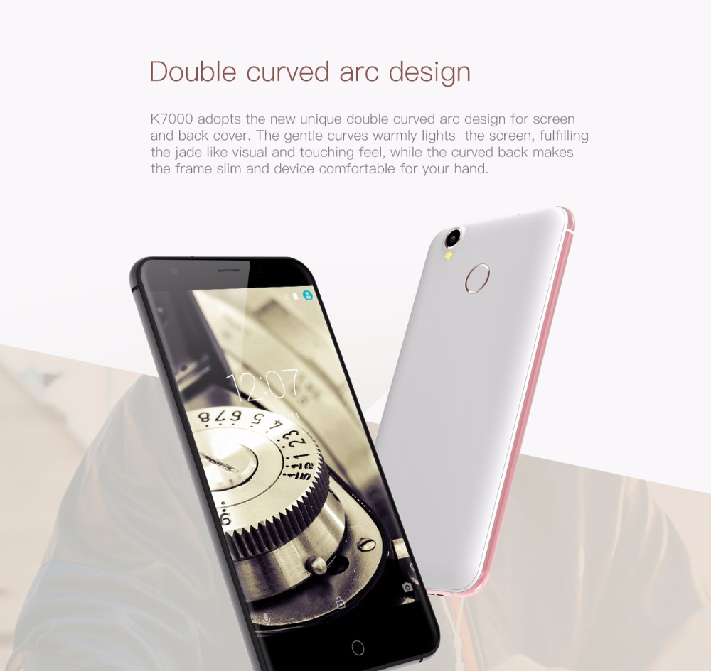 Oukitel K7000 MTK6737 Quad Core Android 6.0 Mobile Phone Cellphone 2G RAM 16G ROM3G Unlock Smartphone Original 5Inch Smartphone 6