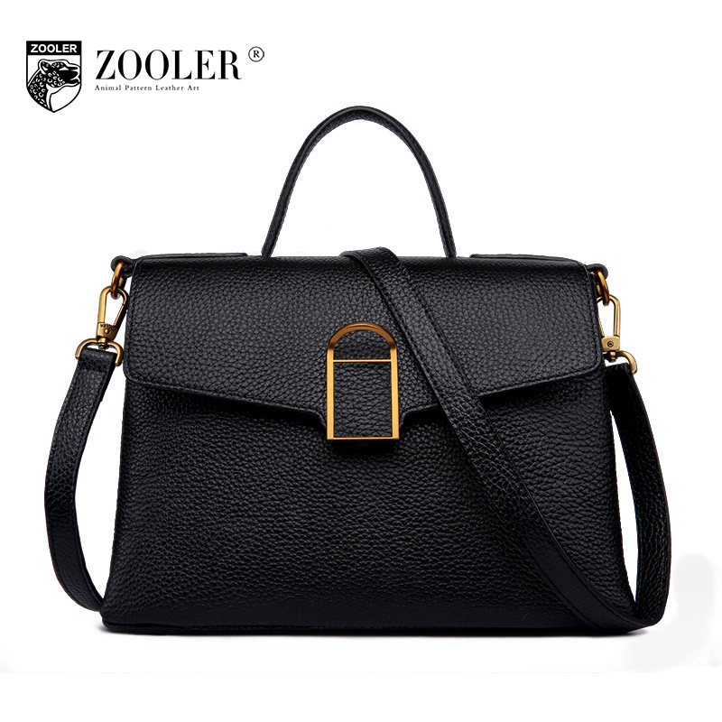 ZOOLER Brand Women Fashion Genuine Leather Handbag Shoulder Bag 2017 New Luxury Handbags Women Bags Designer Bolsa Feminina Tote