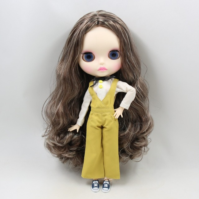 TBL Neo Blythe Doll Brown Grey Hair Jointed Body