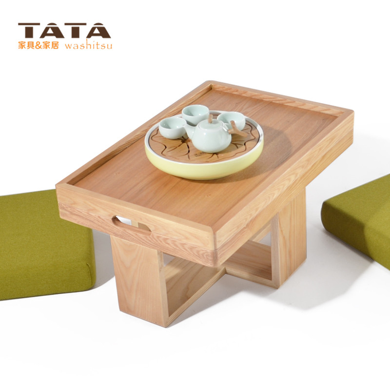 Modern Asian Style Tea Table Furniture Design Two Cushion Seat Low Coffee  Gongfu Tea Tray Table Japanese/Chinese Wooden Table