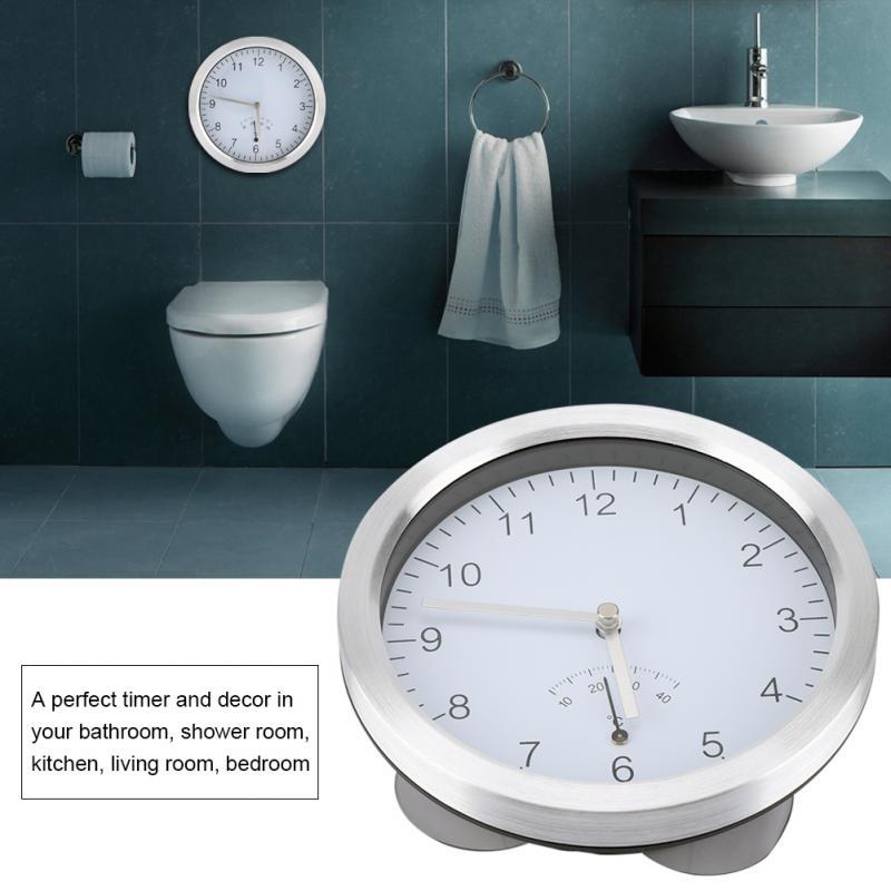 Stil; In 100% QualitäT Home Küche Dusche Zimmer Bad Elektrische Uhr W/temperatur Display Saugnapf Montiert Aluminium Legierung Uhr Modischer
