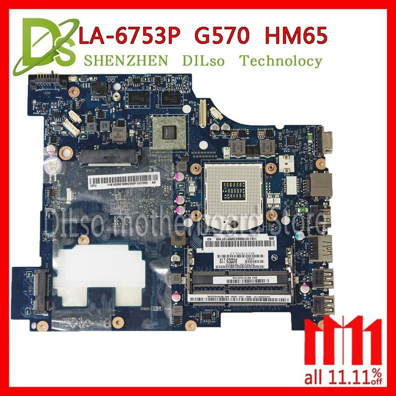 KEFU LA-6753P laptop motherboard for Lenovo G570 Laptop motherboard LA-6753P motherboard HM65 with HDMI interface Test цена
