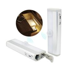 Nowe światła podszawkowe LED z lampa z czujnikiem ruchu PIR LED szafy światła 6 10 LEDs do szafy oświetlenie łazienki lampki nocne tanie tanio Suche baterii Under Cabinet Lights MOTION 10000hours Aluminium Asign DC3V-6V 2xAAA 4xAAA 98mm 190mm 6pcs 10pcs White Warm White
