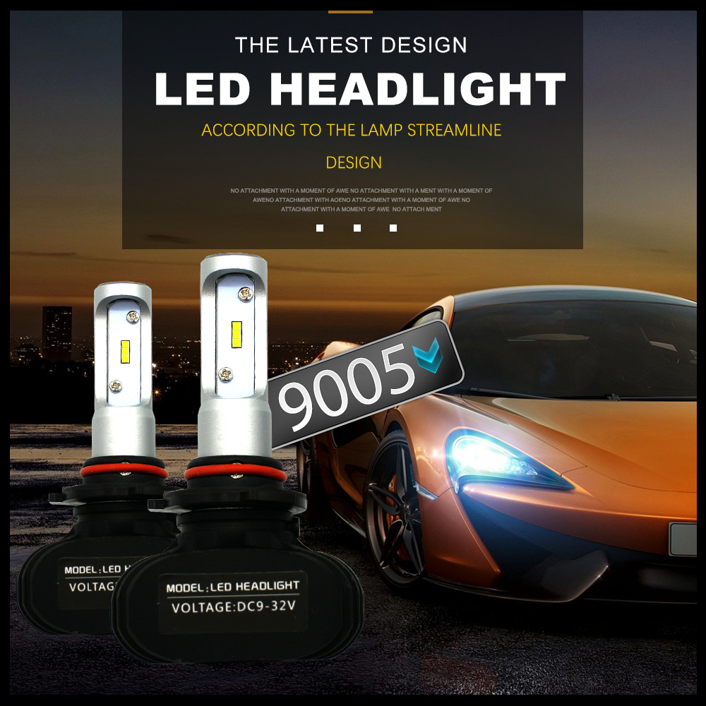 Modifygt S1 H4 Led H7 H1 Car LED Headlight Bulbs Auto 9005 HB3 9006HB4 Led Automotive car styling 12V 50W 8000LM 6000K in Car Headlight Bulbs LED from Automobiles Motorcycles