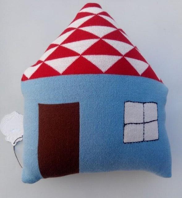 O Projeto da casa Travesseiro Para Bebek Brinquedos Crochet Coussin Enfant Crianças Travesseiros de Carro Da Criança Cama Infantil Azul Preto carrinho de boneca
