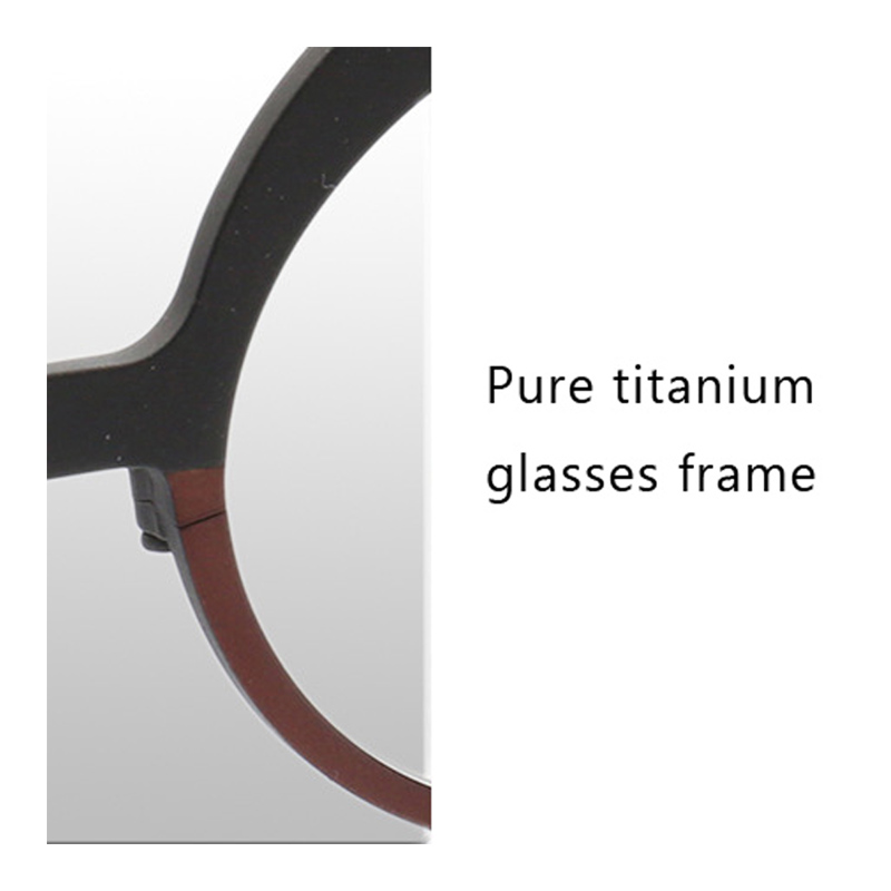 Top Quality Titanium Glasses Frame Man Women Trendy Hand Made Optical Glasses Frame Female Gentlemen small Round Eyeglass Z7023 in Men 39 s Eyewear Frames from Apparel Accessories