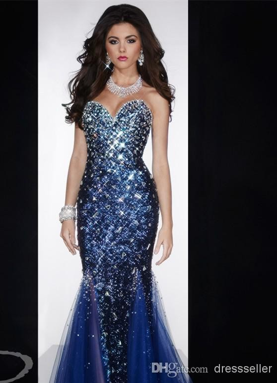 Tidebuy Prom Dresses Rent Dress Sexy Short The Ultimate Black Uk Trumpet  Mermaid  Floor Length Court Train Sequined S 2015 Cheap-in Prom Dresses from ... 5111f4464ab6