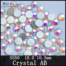 144pcs SS50 Round Glass Stones Crystal AB Machine Cut Strass Chaton Non Hot Fix Rhinestones