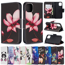 Wallet Phone Cases For iPhone 5 S Leather Cover Cute Case for iPhone 6 6s 7 8 Plus Butterfly Panda for Coque iPhone Fundas Shell цена 2017