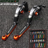 With Logo Motorcycle Folding Extendable CNC Moto Adjustable Clutch Brake Levers For Honda CB 190R CB190R CB 190 R 2015-2017 2016
