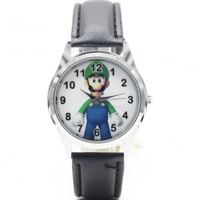 2018 super mario Luigi watch Quartz Kids Sports fashion cartoon Watch Wristwatch