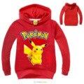 Pokemon Идут Дети Одежда Мальчики Толстовки и Кофты Девушки Балахон Ребенок Покемон Пикачу Одежда С Длинным Рукавом Детская Одежда