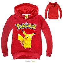 Pokemon Go Kids Clothes Boys Hoodies and Sweatshirts Girls Pikachu Hoodie Baby Pokemon Clothes Long Sleeve Children Clothing