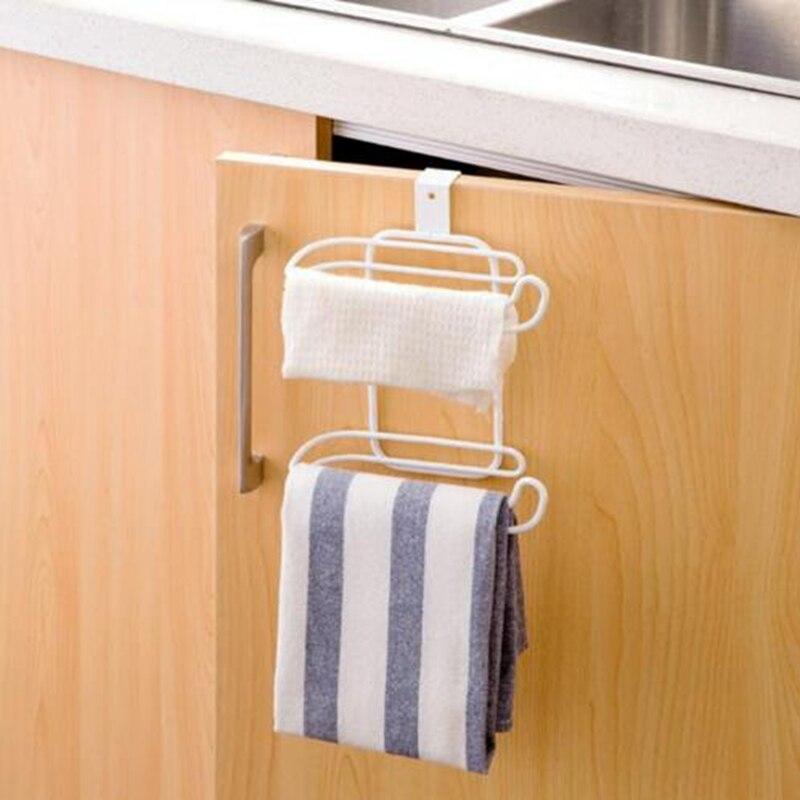 Bathroom Hanging Organizer Toilet Roll Paper 2 Layers Towel Rack ...