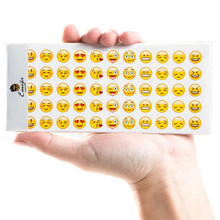 QUINEE OX Cute Emoji Smile Face Diary Stickers Posted It Kawaii Planner Memo Scrapbooking Sticker Stationery Child Toy