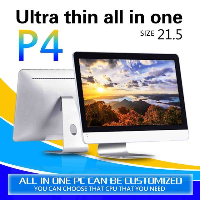 Ultra Low Power desktop computer P4 21.5 4G ram 500gb ssd core i3 3240 dual core android all-in-one pc touch screen