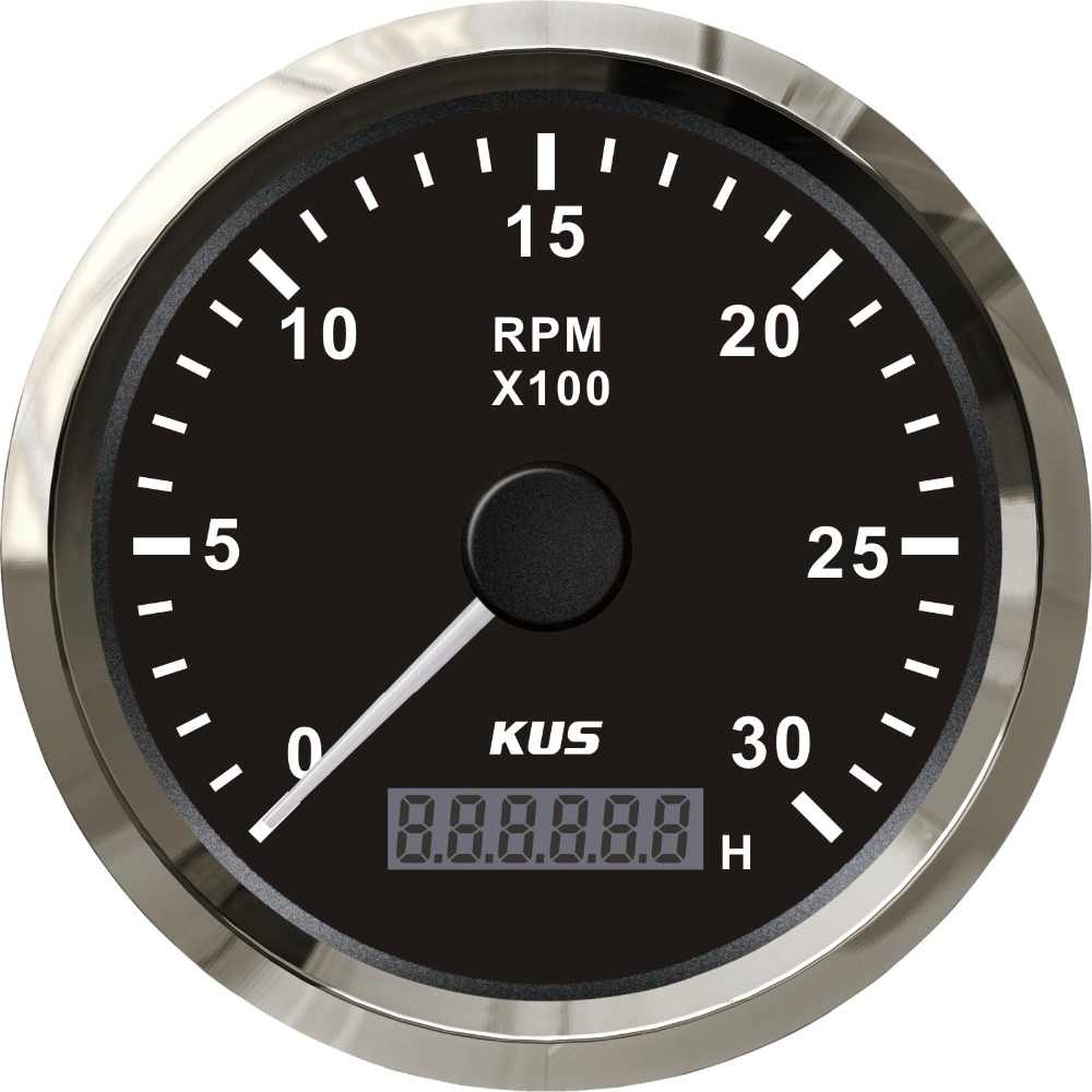 small resolution of kus diesel engine tachometer rpm gauge rev counter 0 3000rpm with digital hourmeter