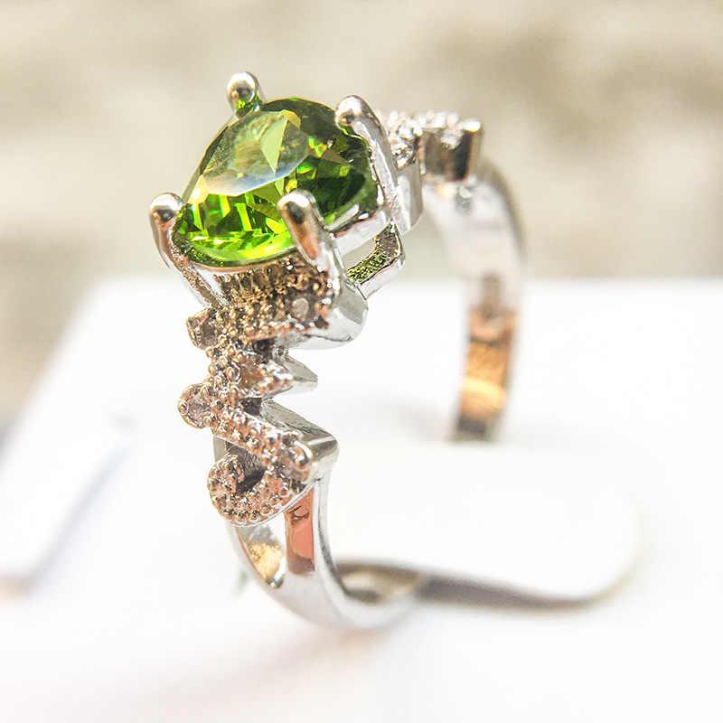โรแมนติก 2 สีแท้ 100% แท้ 925 แหวนเงิน Love Heart แหวน Original งานแต่งงานของขวัญเครื่องประดับสำหรับแม่