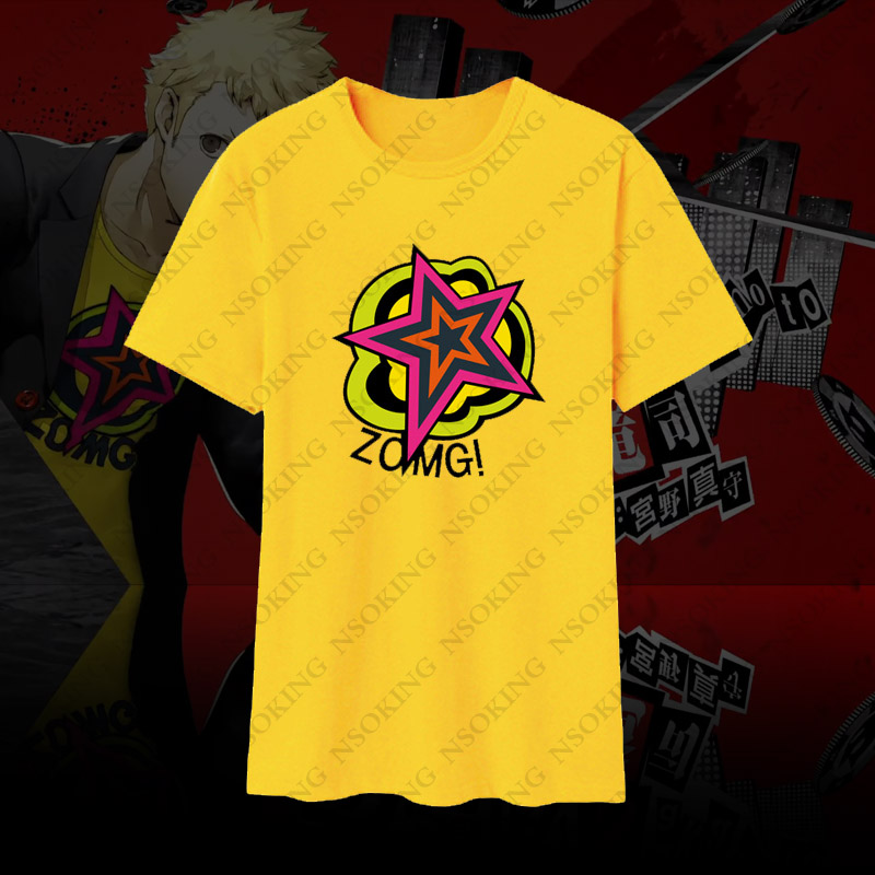 Persona5 All Group Summer T-Shirt Short Sleeve Causal Top Unisex Top Tee