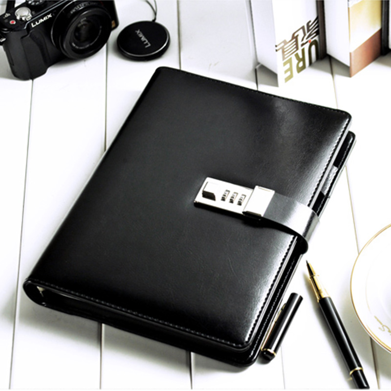 Cagie Fashion Password Diary With Lock Stationery - Year of