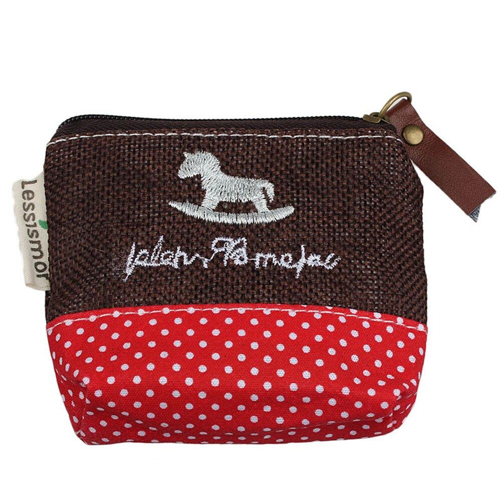 2018 Hot New Fashion Light High Quality Women Girls Small Canvas Purse Zip Wallet Coin Case Bag Handbag Key Holder
