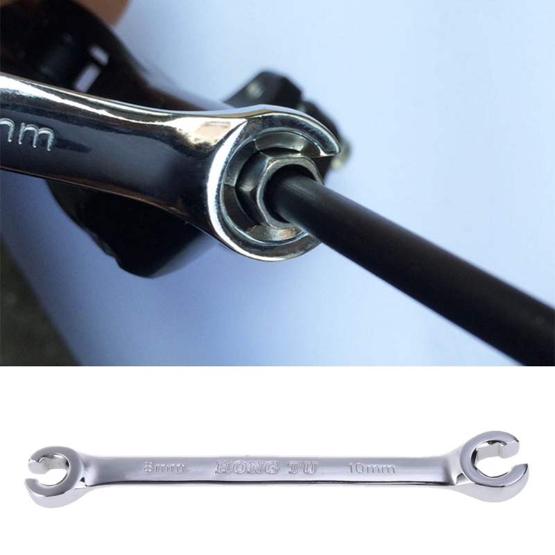Bicycle Wrench Repair Tool Oil Tube Pipe Spanner 8mm/10mm Cycling Bike Open End