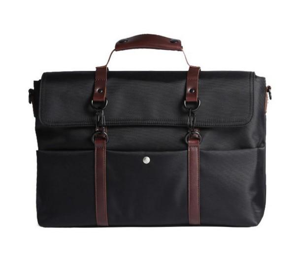 New Retro Waterproof Men Business Briefcases Male Crossbody Shoulder Laptop Messenger Bags Simple Travel Casual Handbags D256