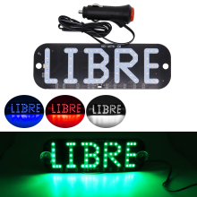 LIBRE LED Taxi Sign Car Windscreen Cab Indicator Lamp Blue Windshield Light Lamp 12V White Red Blue Green Rideshare Signal Light цена