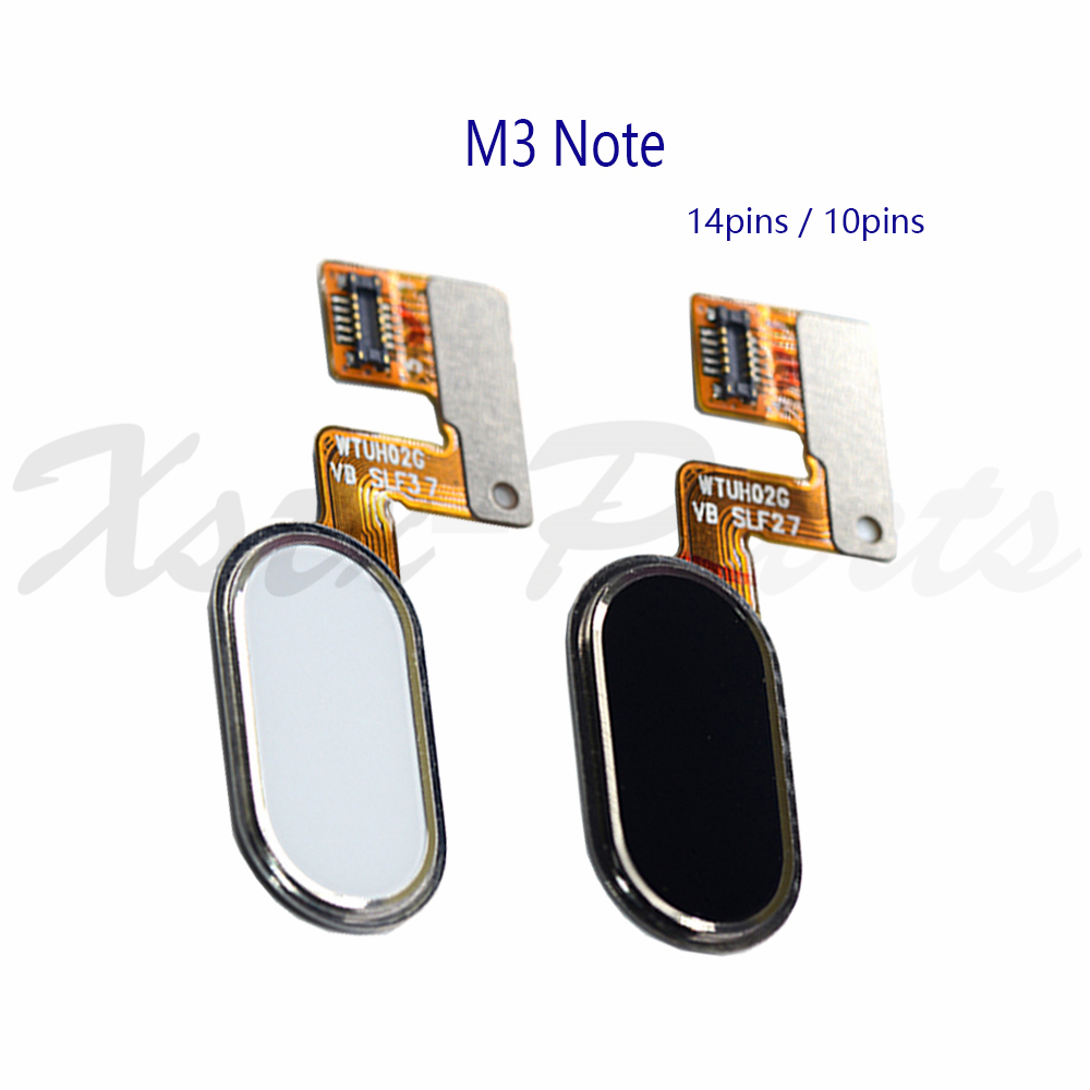 "1PCS Home Button Key Menu Button Fingerprint  Flex Cable For 5.5"" Meizu M3 Note Or L681H White/ Black/gold"