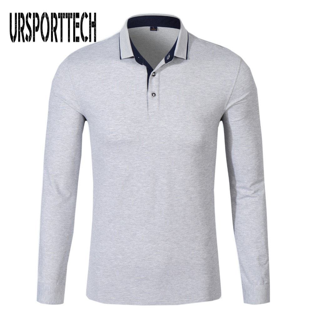 New Brand Men's Solid Long Sleeve   Polo   Shirt Mens Autumn Full Sleeve Turn Down Collar Shirt Casual Camisetas Masculinas Tops