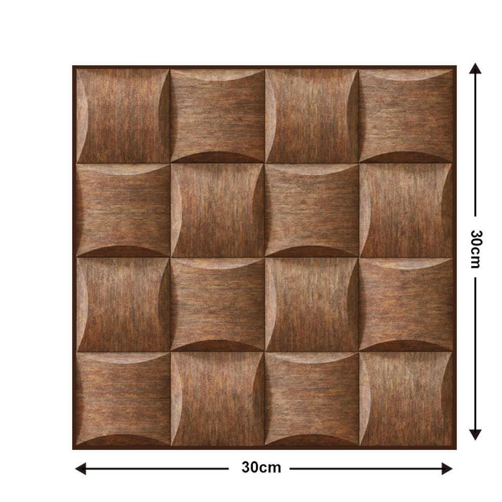 10 Chiếc Giả Vân Gỗ 3D Decal Dán Tường DIY Có Thể Tháo Rời Ốp Tự Dán Chống Thấm Nước Nhà Bếp Phòng Tắm Trang Trí Nhà Cửa