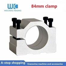 1pc 84mm bracket aluminum mount for water cooled Spindle Motor wood milling engraving spindle motor стоимость