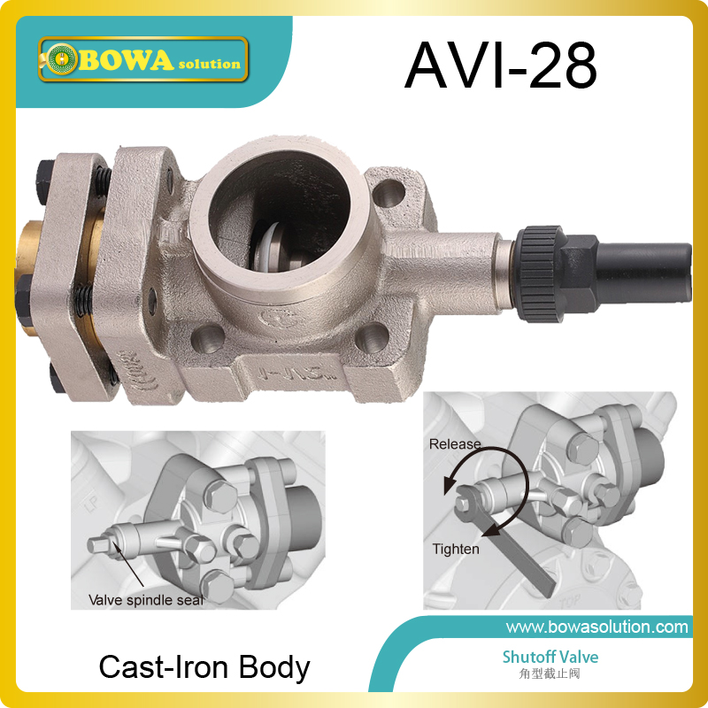 Cast-iron angle shutoff valve working as suction valves and discharges valves for 6 cylinders or 8 cylinders open compressors aluminium shutoff valve as suction valve of fk20 fk30 and fkx open type compressors for mobile refrigeration and air condtioner