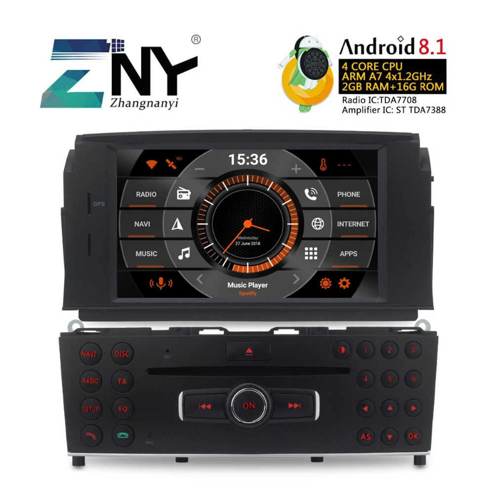 Android 8.1 Car DVD GPS For Benz C Class C200 C180 W204 2007 2008 2009 2010 2011 Auto Stereo Radio Audio Video Free Rear Camera