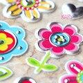 Высокое Качество Симпатичные Kawaii Emoji Вознаградить Детей Детская Игрушка Красочные Цветы Листьев Сердце Скрапбукинга Блестящий Искра Волнистыми Наклейки